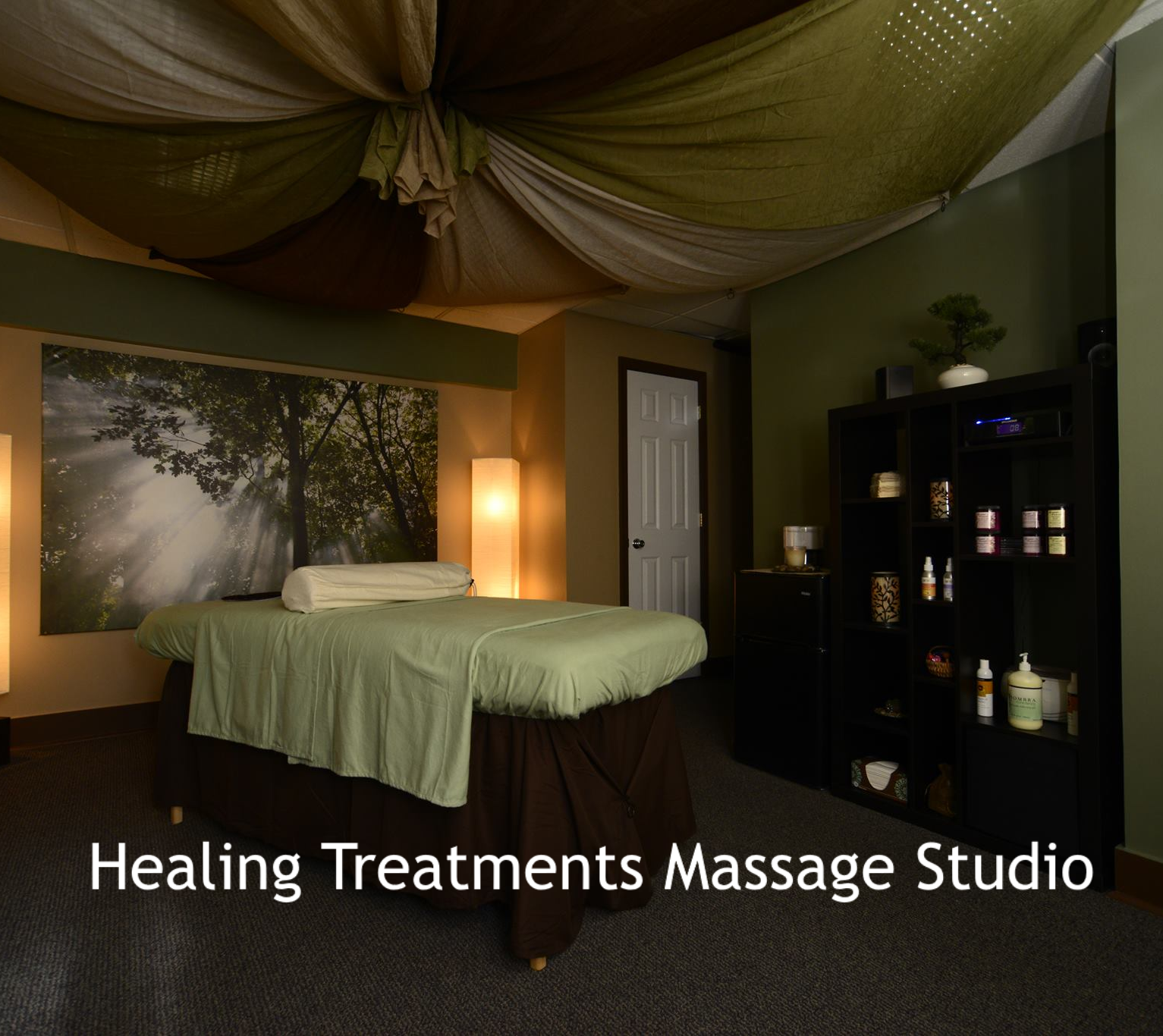 Healing Treatments Massage Studio, links to Facebook page